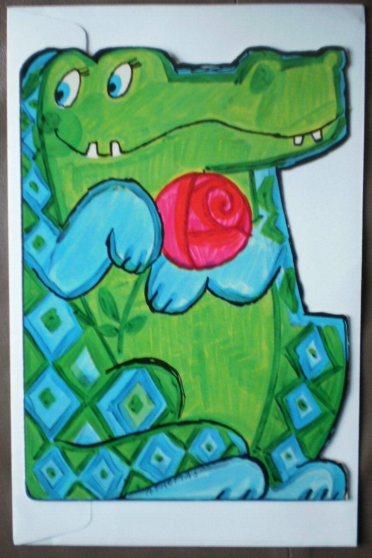Crocodile Alligator Get Well Card Hallmark Fancifuls Vintage Greeting