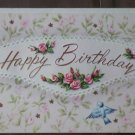 Vintage Birthday Card Birds Flowers Sunshine Card 25x3015