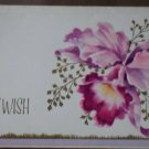 Belated Birthday Card Simply Elegant Orchid Cattleya Flower Vintage Greeting