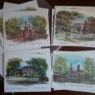 Bright of America Note Cards Vintage Lot 11 Moore House Independence Hall Old North Church