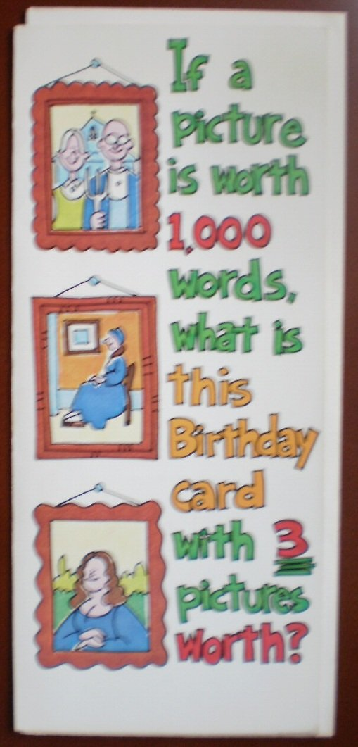 Birthday Card Vintage Amberley Greeting Hi 1982 Picture 1000 Words