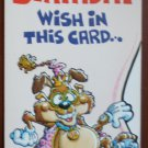 Birthday Card Vintage Mark 1 Inc Roller Skates Dog