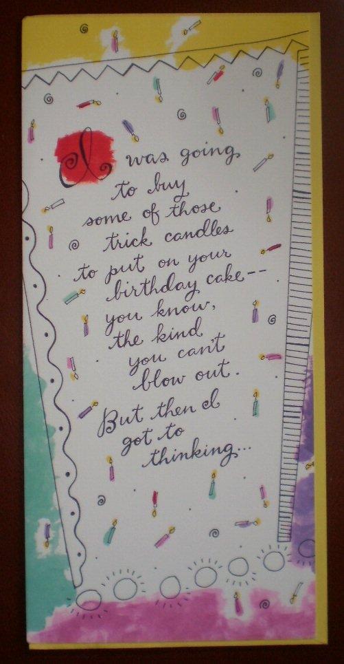 Birthday Card Trick Candles Cake Hallmark Contemporary Greeting