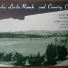 Vintage Golf Scorecard Yorba Linda Ranch Country Club Gene Davis score card