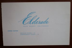 Vintage Golf Scorecard Eldorado Palm Desert Mike Portik score card