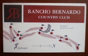 Vintage Golf Scorecard Rancho Bernardo Country Club CA score card