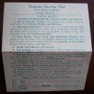 Vintage Golf Scorecard Virginia Country Club Long Beach CA score card