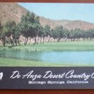 Vintage Golf Scorecard De Anza Desert Country Club Borrego Springs CA score card
