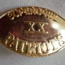 Super Bowl XX Pin Patriots Goldtone Football Lapel vintage 1986