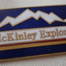 McKinley Explorer Pin Mount Alaska Enamel Goldtone Metal Vintage