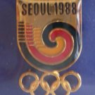 Seoul 1988 Olympics South Korea Eden Arts Enamel Goldtone Metal