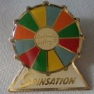 California Lottery Spinsation Pin Enamel Goldtone Metal State