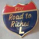 California Lottery Road to Riches Pin Jonathan Grey Enamel Goldtone Metal State