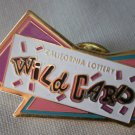 California Lottery Wild Card Pin Paint Goldtone Metal State