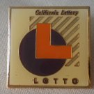 California Lottery Lotto Pin Enamel Goldtone Metal State