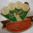Tony Gwynn Pin 4 Time National League Batting Champion 1989 Enamel Goldtone Metal