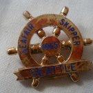 Seafair Skipper Seattle Pin 1965 Plastic Hydroplane Vintage