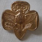 Girl Scout Vintage Pin Eagle Emblem GSA Goldtone Metal