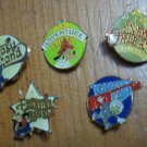 Disneyland Pin Lot 5 Fantasy Land Adventure New Orleans Square Frontier Tomorrow