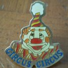 Circus Circus Clown Pin Enamel Goldtone Metal Las Vegas Casino