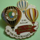Balloon International Pin 1986 3rd Annual Hot Air Palm Beaches