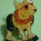 Spuds Bud Light Pin Beer Budweiser Enamel Goldtone Metal Bull Terrier Beach Hawaii