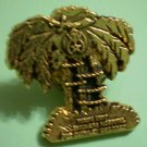 Shriners Children's Hospital Pin Palm Tree Tampa Unit Florida Vintage Goldtone Metal