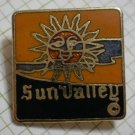 Sun Valley Pin Ski Resort Vintage Enamel Goldtone Metal 1978