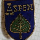 Aspen Pin Ski Resort Colorado Enamel Goldtone Metal Vintage