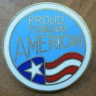 Proud to be an American Pin US Flag Pinnacle Designs Enamel Goldtone Metal