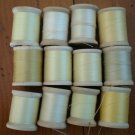 Belding Corticelli Wooden Spools Beige Thread Vintage Lot 12 Shades Beige Mercerized Cotton