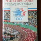 Official Site Map 1984 Olympic Games Thomas Bros Los Angeles