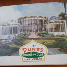 Vintage Golf Scorecard Dunes Country Club Las Vegas NV Emerald Green