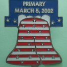 Primary Election Pin 2002 Liberty Bell Dan Johnson Silvertone Metal