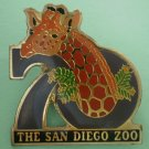 San Diego Zoo 70th year Giraffe Enamel Goldtone Metal