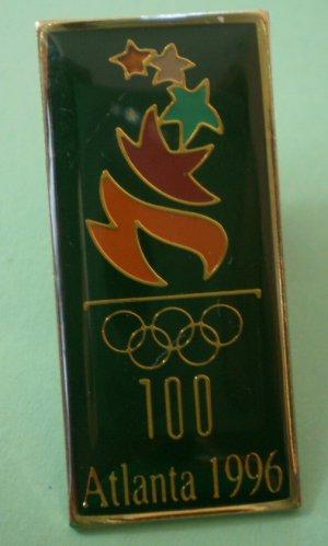 Altanta Olympics 1996 Pin 100th Year Enamel Goldtone Metal