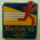 1992 Olympics Kodak Pin Running Marathon Enamel Goldtone Metal