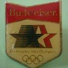 Olympics 1984 Pin Budweiser Los Angeles Games Enamel Goldtone Metal