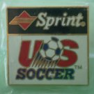 Sprint US Soccer Pin 1993 Goldtone Metal Aminco Sponsor