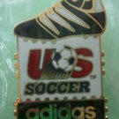 Adidas Questra US Soccer Pin 1991 Goldtone Metal McGillvray Sponsor