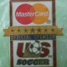 Mastercard US Soccer Pin 1994 Goldtone Metal Aminco Sponsor