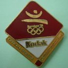 Kodak Olympics Pin 1992 Barcelona Official Sponsor Enamel Goldtone Metal
