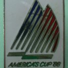 America's Cup 1988 Sailing Pin '88 Silvertone Metal Peter David