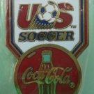 Coca Cola US Soccer Pin 1991 Goldtone Metal McGillvray Sponsor Coke