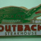 Outback Steakhouse Pin T-Bird Crocodile Special Event Goldtone Metal