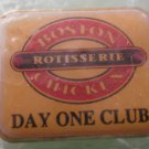Boston Chicken Rotisserie Pin Boston Market Pre-1995 Goldtone Metal Enamal Day One Club Employee