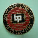 Bakery Production Club Pin Southern California BP Goldtone Metal