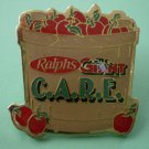 Ralphs Giant Care Pin Grocery Employee Pinback Apple Barrel Customers Are Really Everything