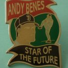 Andy Benes Pin Star of the Future San Diego Padres Enamel Goldtone Metal
