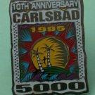 Carlsbad 5000 Pin Race San Diego 10th Anniversary 1995 Silvertone Metal